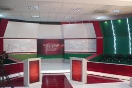 оформление студии телеканала