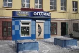 оформление фасада салона оптики